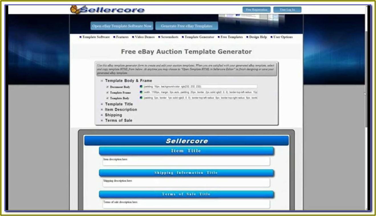 Ebay Listing Template Creator