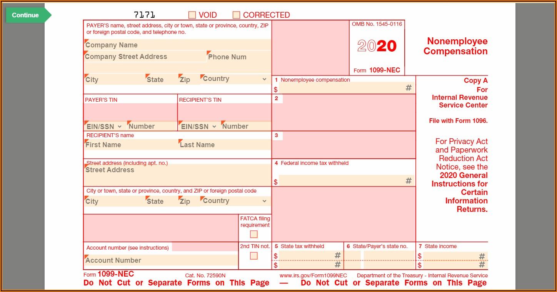 Editable 1099 Nec Form