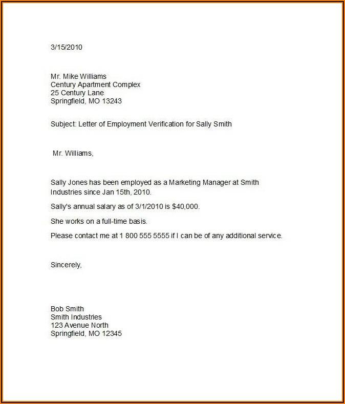 Employee Background Verification Letter Format