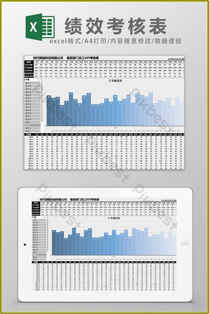 Employee Performance Kpi Template Excel Free