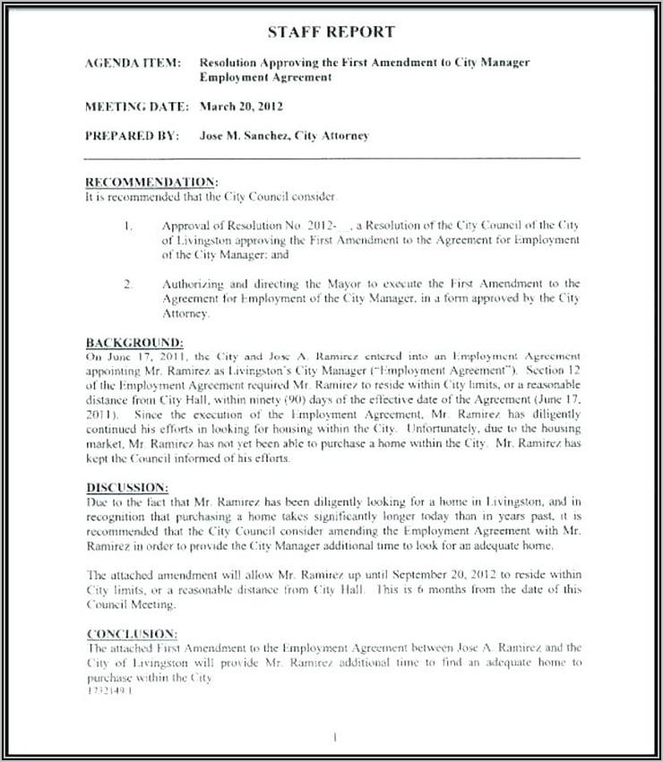 Employment Contract Amendment Template Uk
