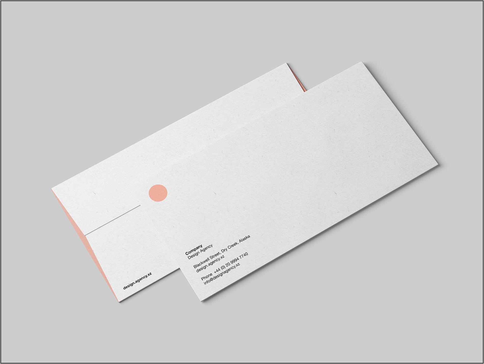 Envelope Dl Mockup Psd Free Download