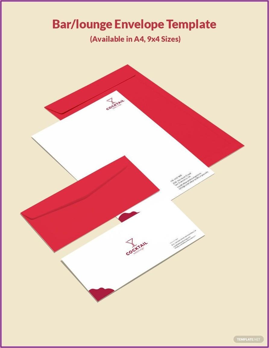 Envelope Vector Template Illustrator