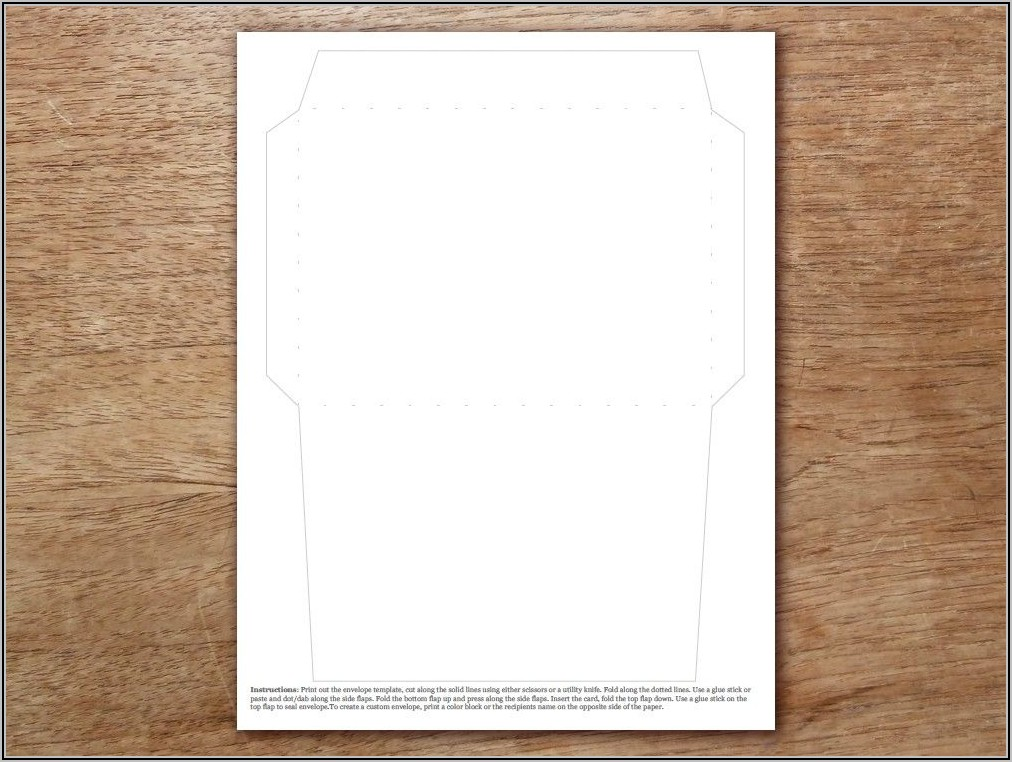 Epson Envelope Printing Template
