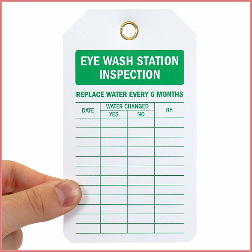 Eye Wash Station Inspection Sheet