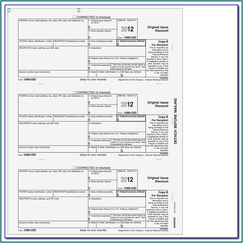 Federal Income Tax Form 1099 S