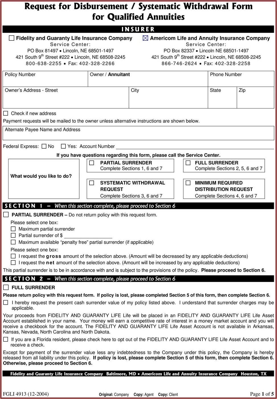 Fidelity Ira Distribution Forms