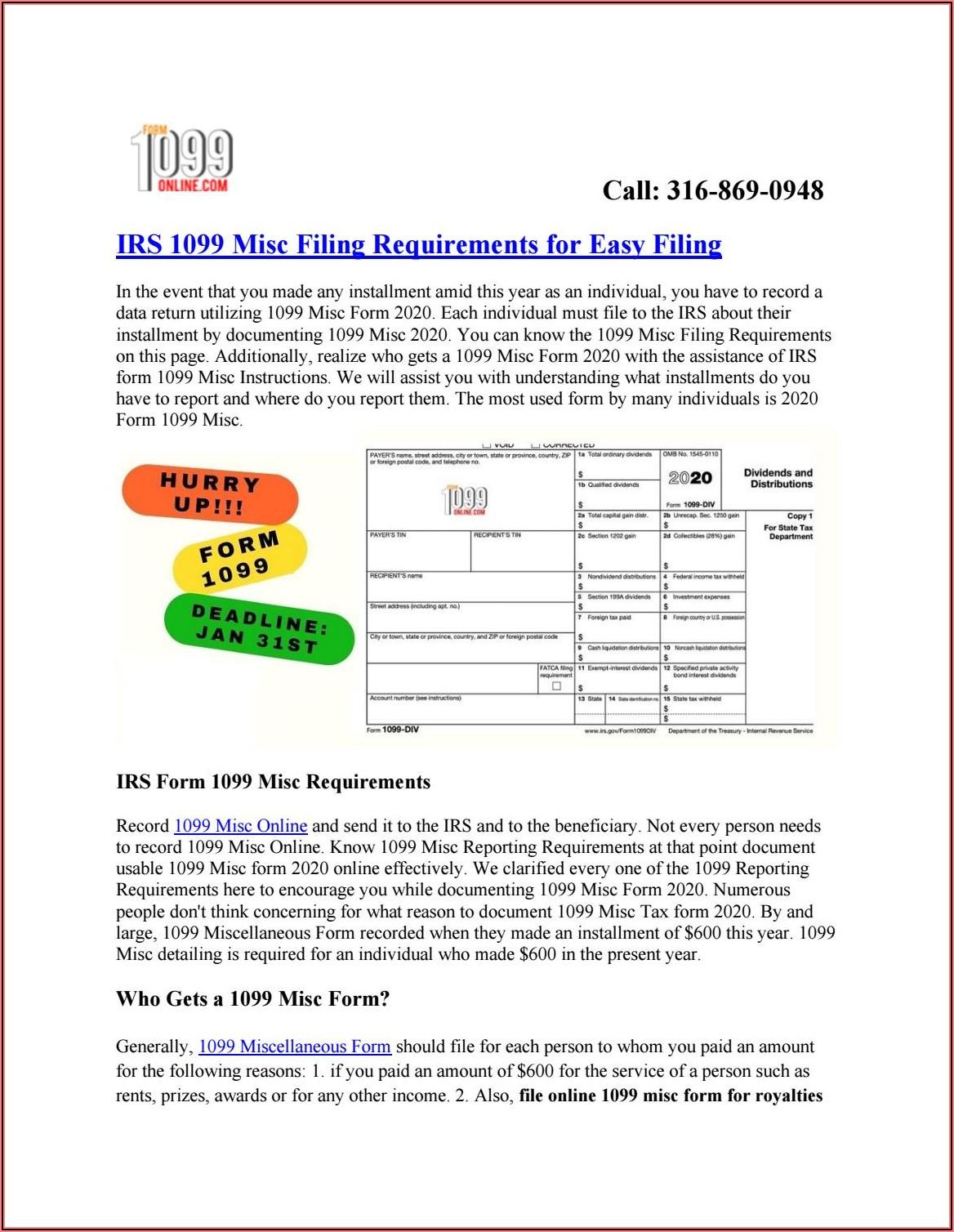 File Form 1099 Misc