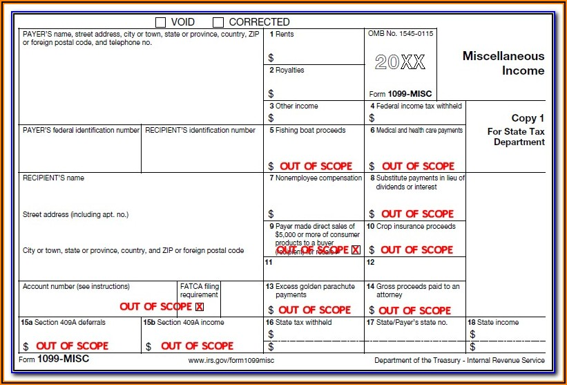 Fill In Form 1099 Misc