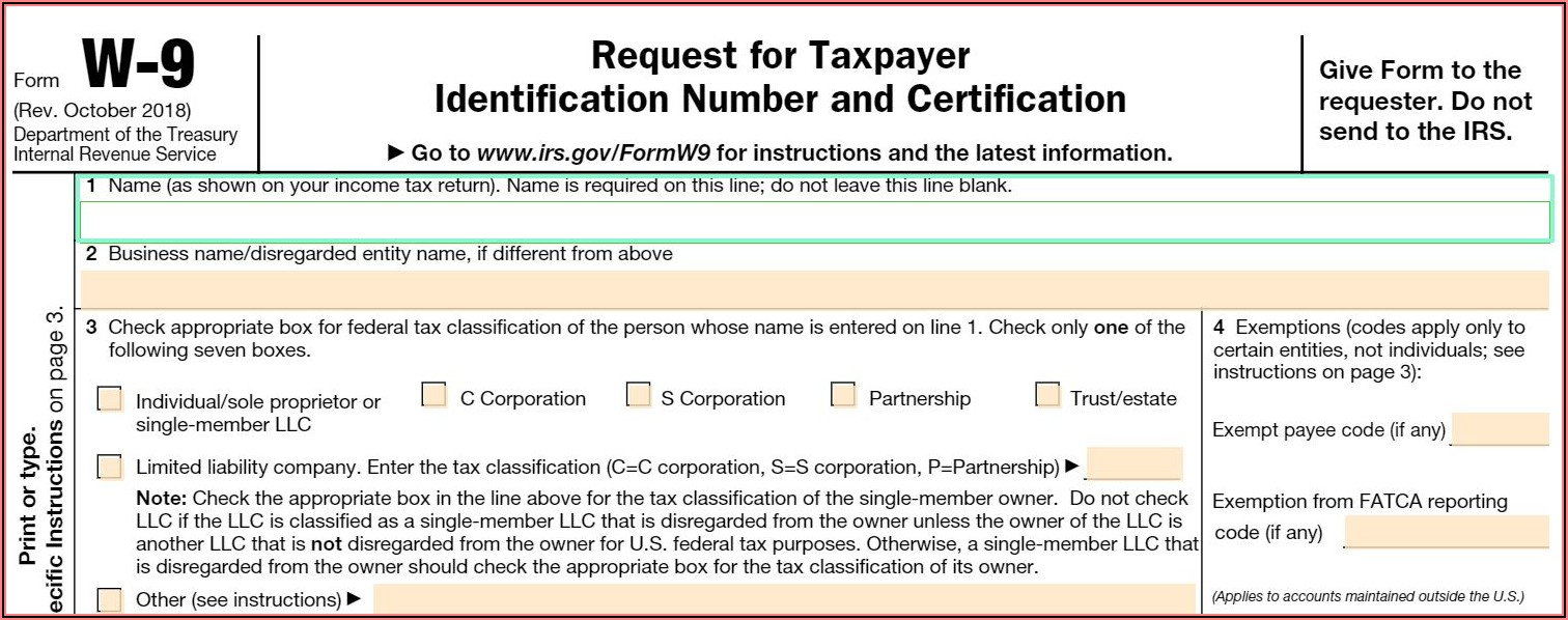 Fillable Form W 9 2021