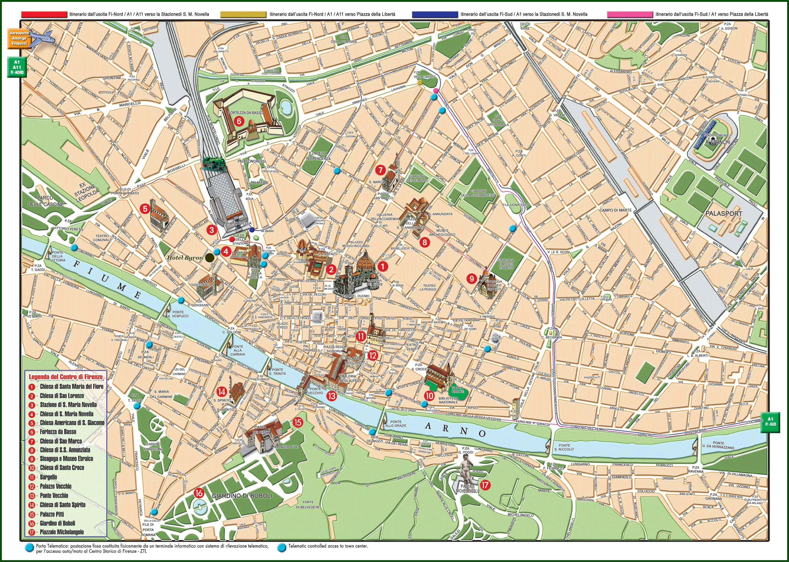 Florence Walking Tour Map Pdf