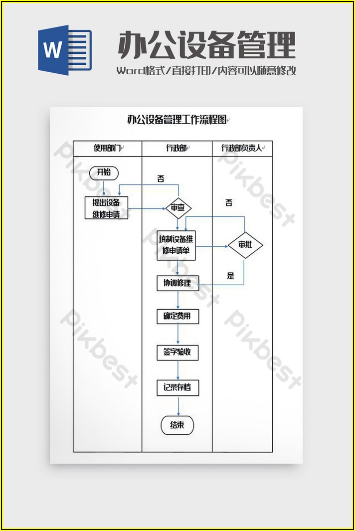 Flow Chart Template Free Download Word
