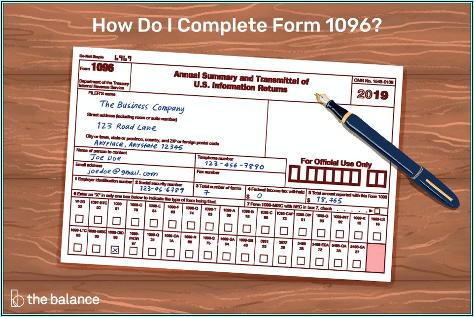 Form 1099 Misc 2019 Template Word