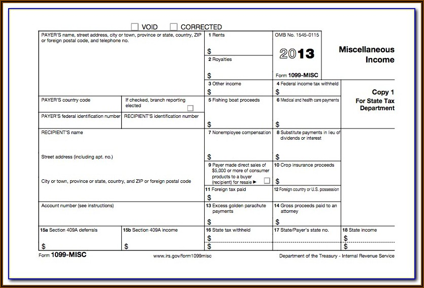 Form 1099 Misc California