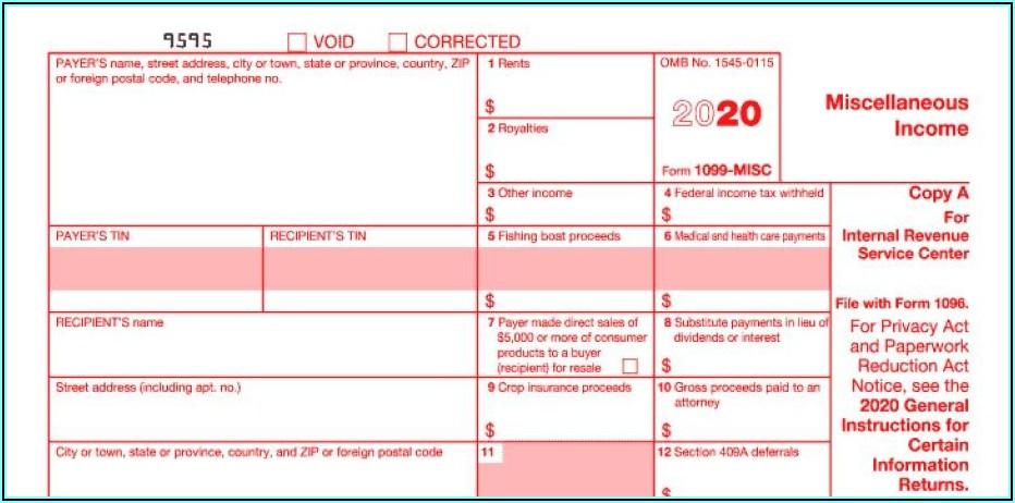 Form 1099 Printable 2020