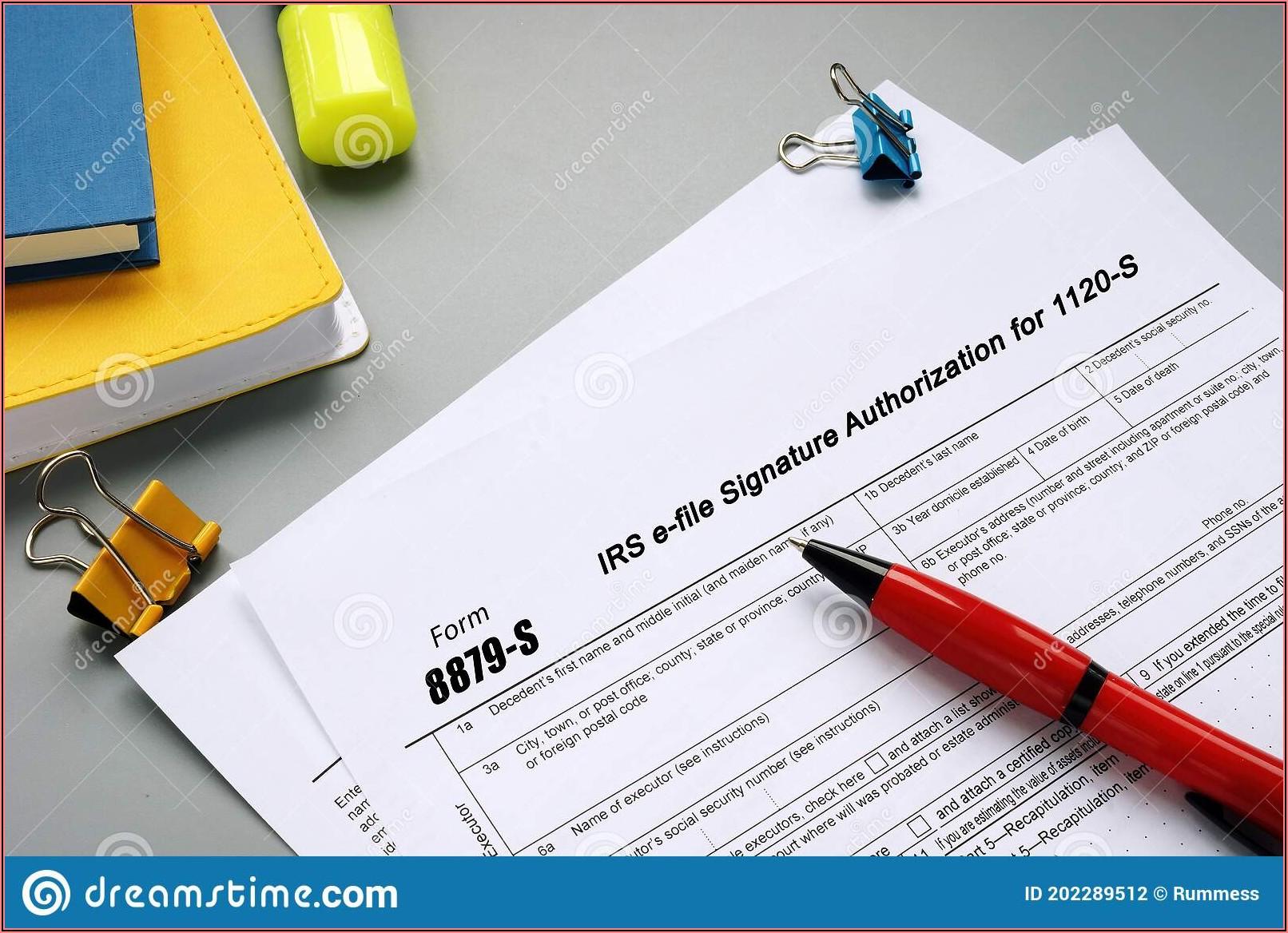 Form 8879 Irs E File Signature Authorization 2018