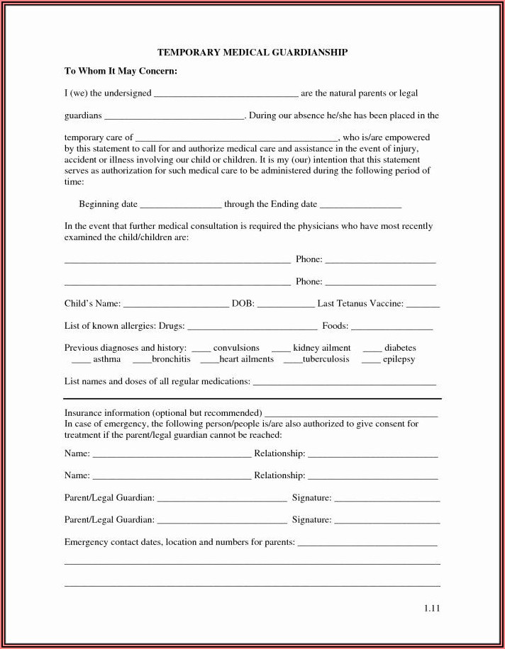 Forms For Guardianship Of A Minor Child In Texas