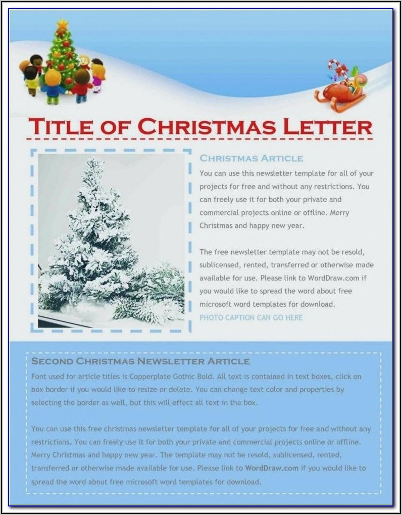 Free Christmas Newsletter Templates For Word
