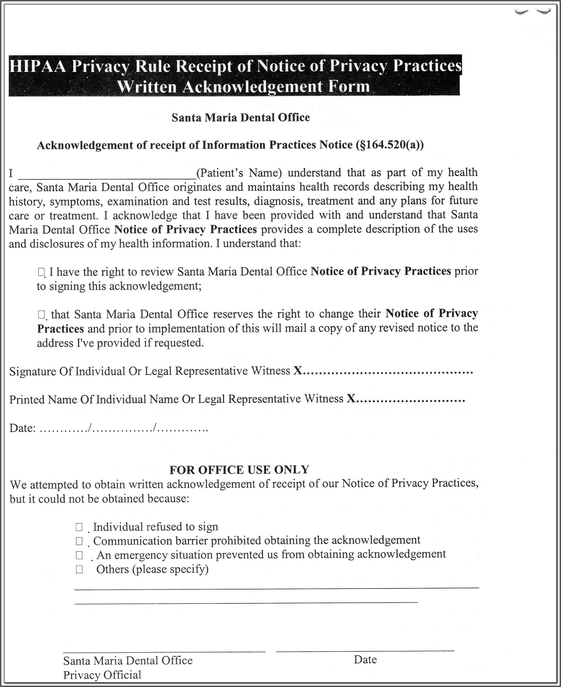 Free Dental Charting Forms
