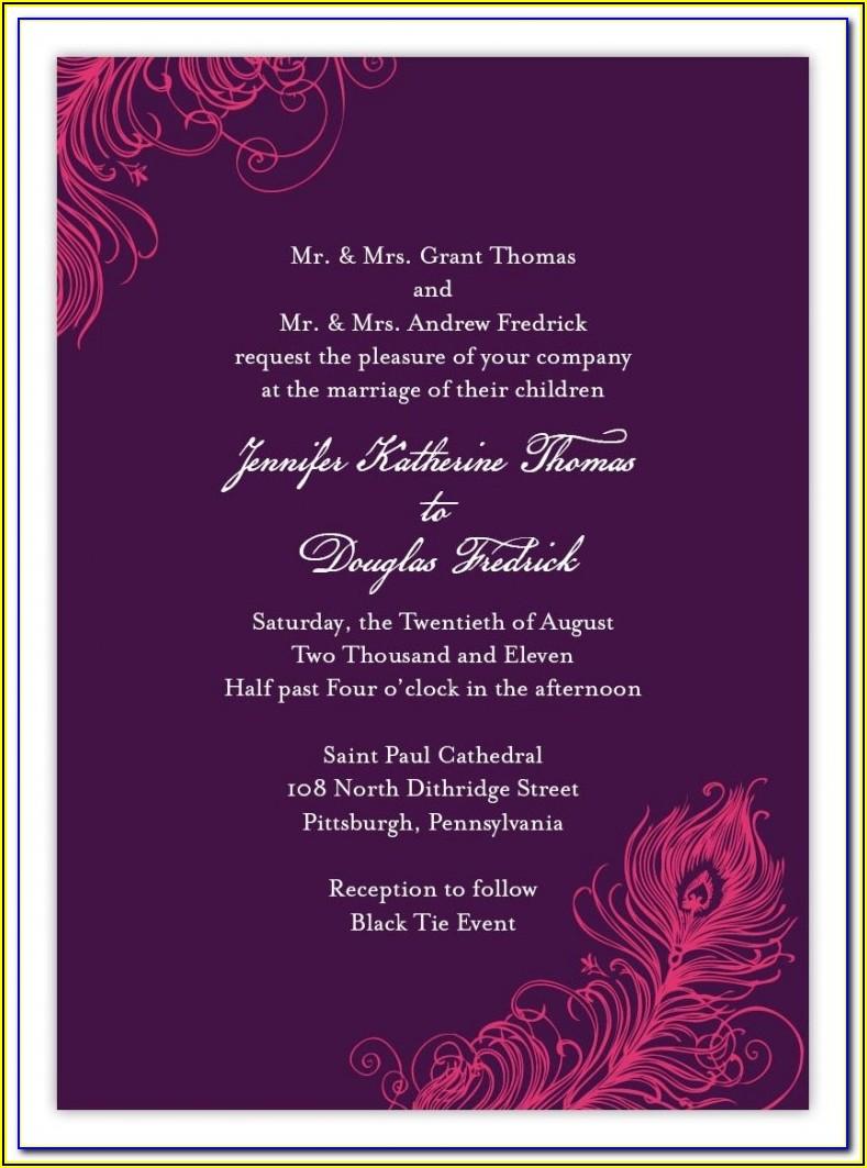 Free Engagement Invitation Templates India