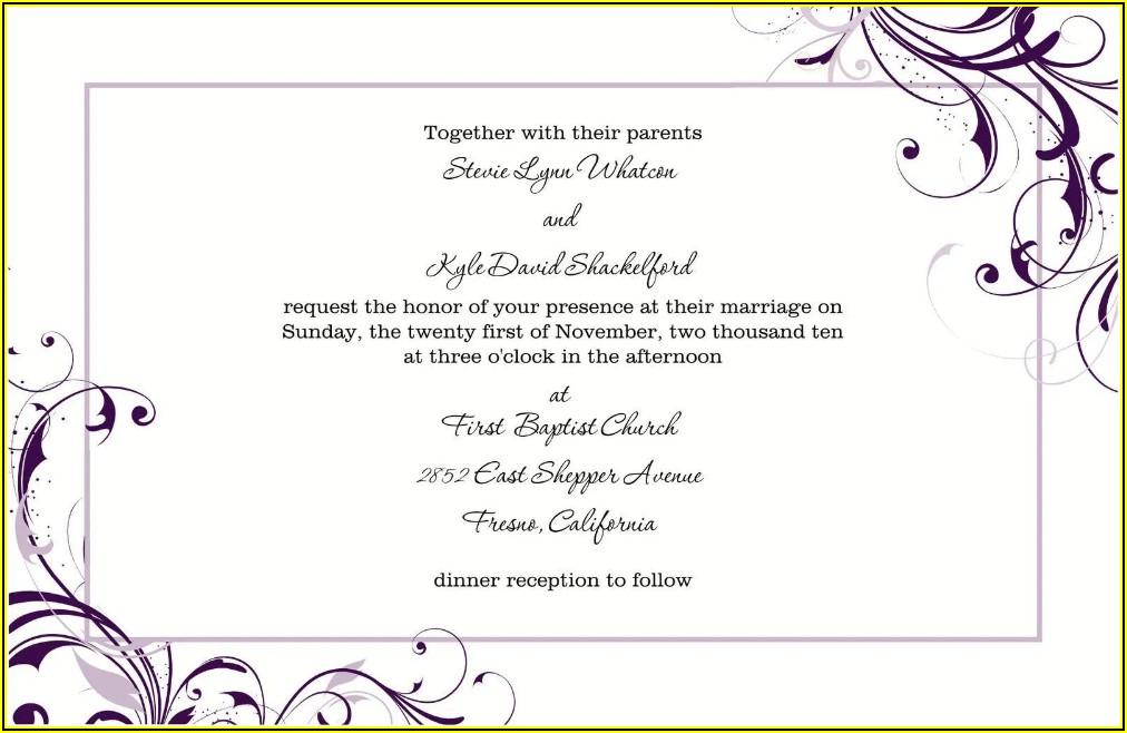 Free Engagement Invitation Templates Word