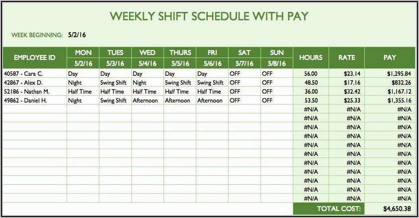 Free Excel Work Plan Template