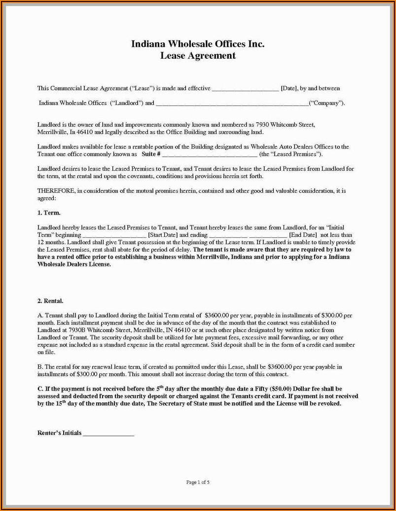 Free Lease Renewal Agreement Pdf
