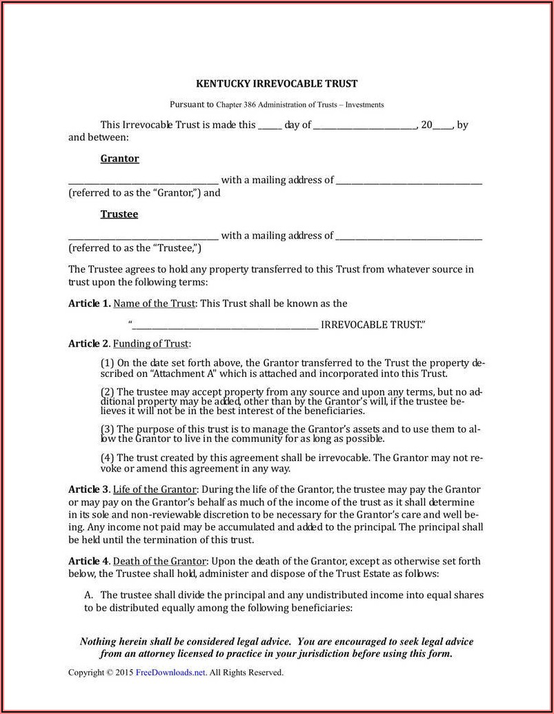 Free Living Trust Amendment Form California
