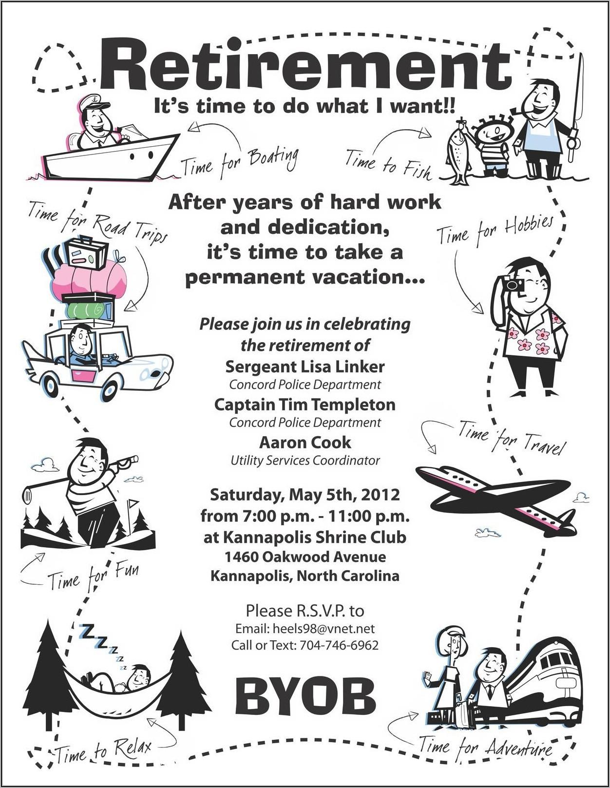 Free Nurse Retirement Party Invitations Templates