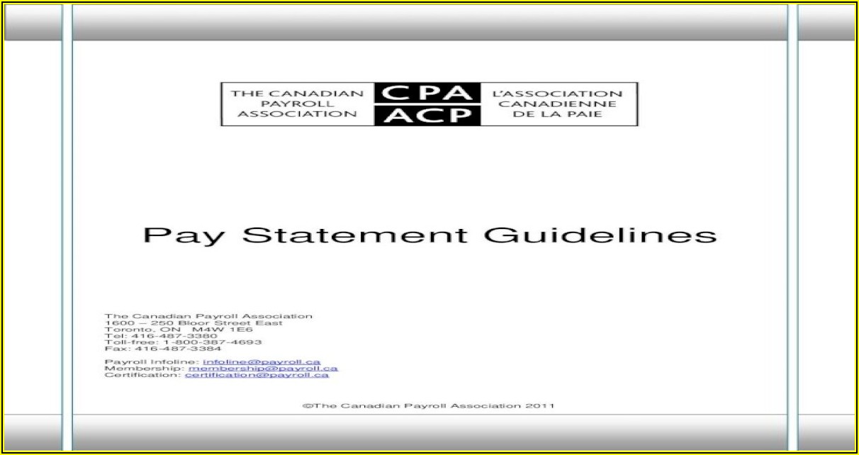 Free Pay Statement Template