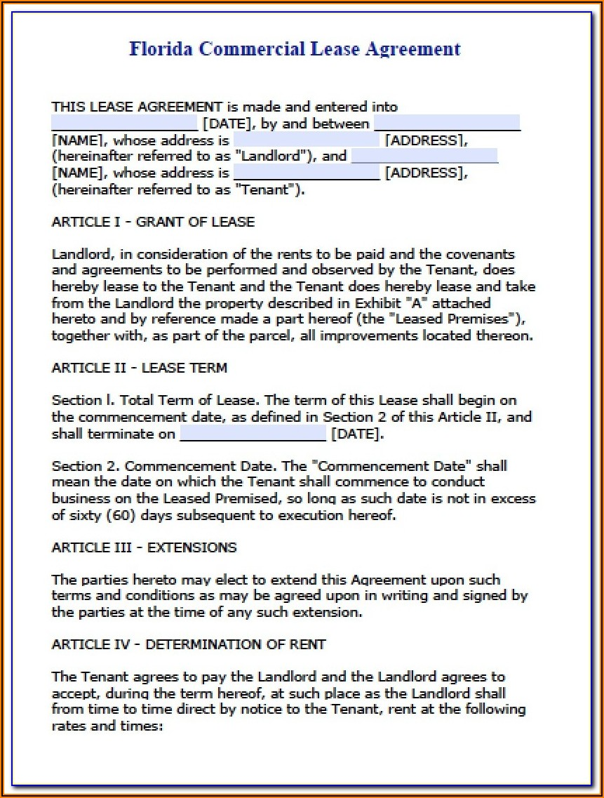 Free Residential Lease Renewal Form