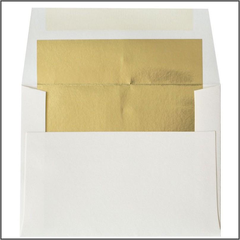 Gold Foil Lined Envelopes