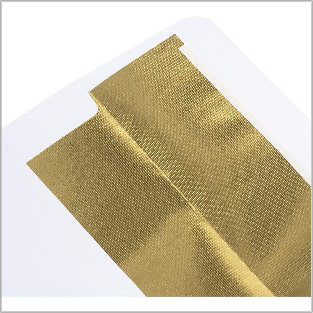 Gold Lined Envelopes 5x7