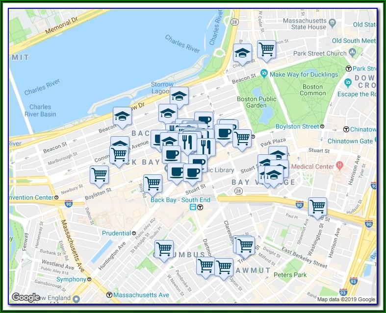 Google Maps Copley Square Boston