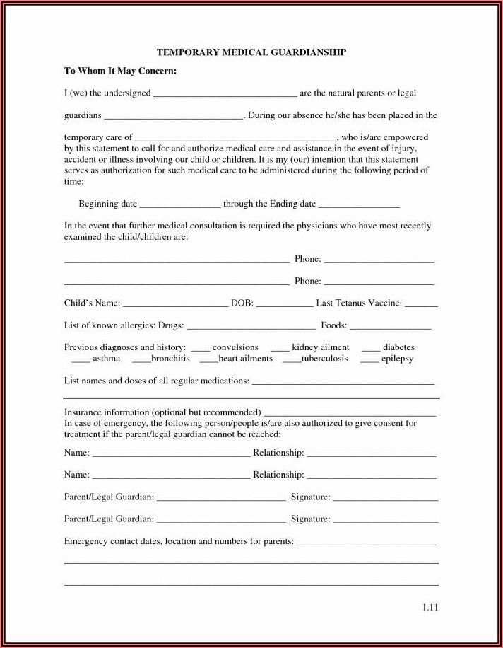 Guardianship Document Texas