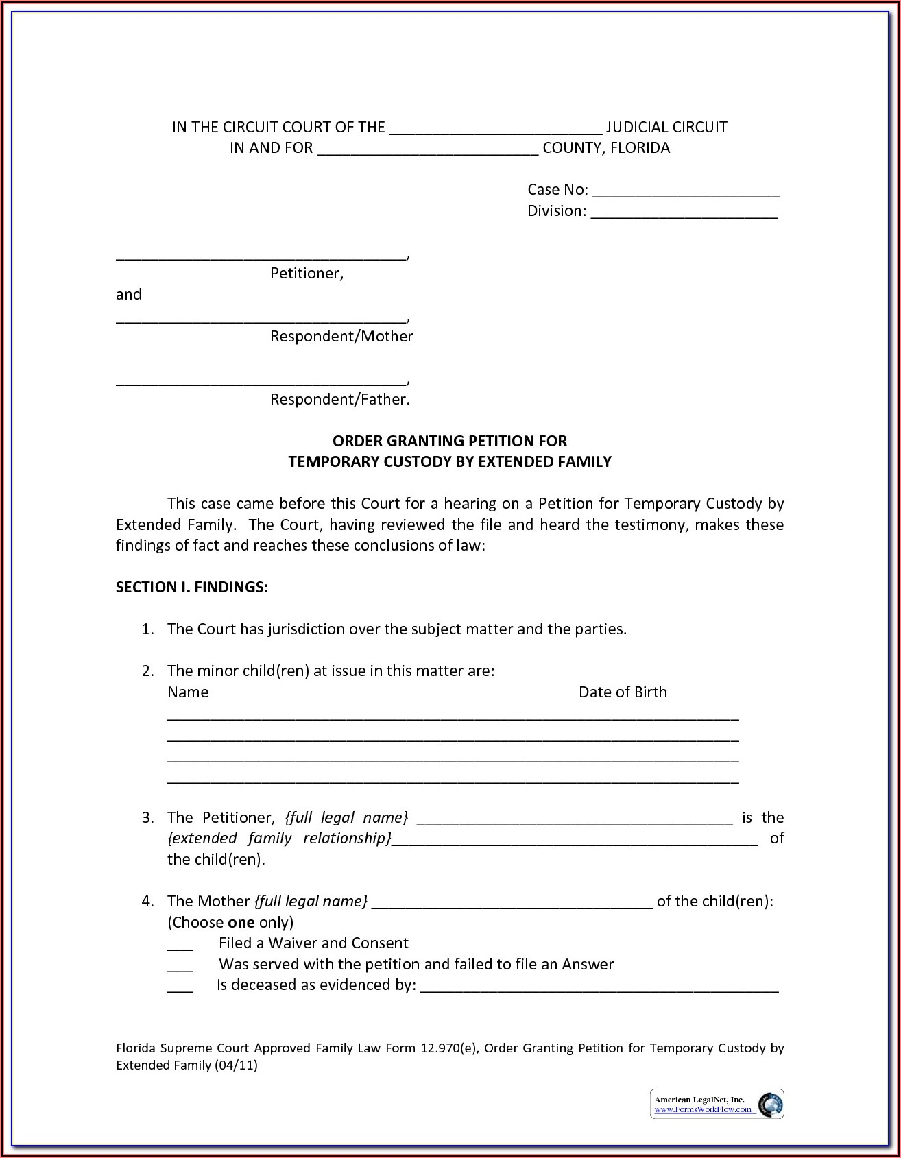 Guardianship Papers Texas Free Download