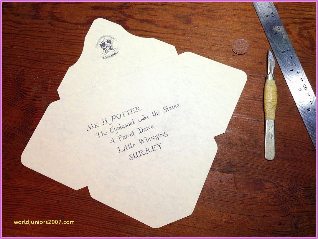 Harry Potter Acceptance Letter Envelope Template Printable