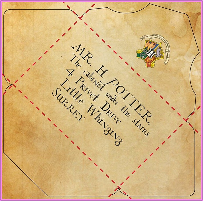 Harry Potter Hogwarts Letter Envelope Printable