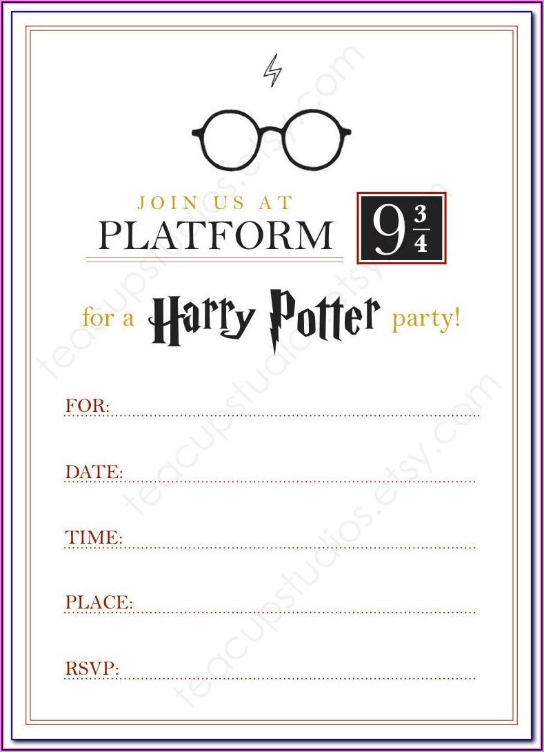 Harry Potter Hogwarts Letter Envelope Template