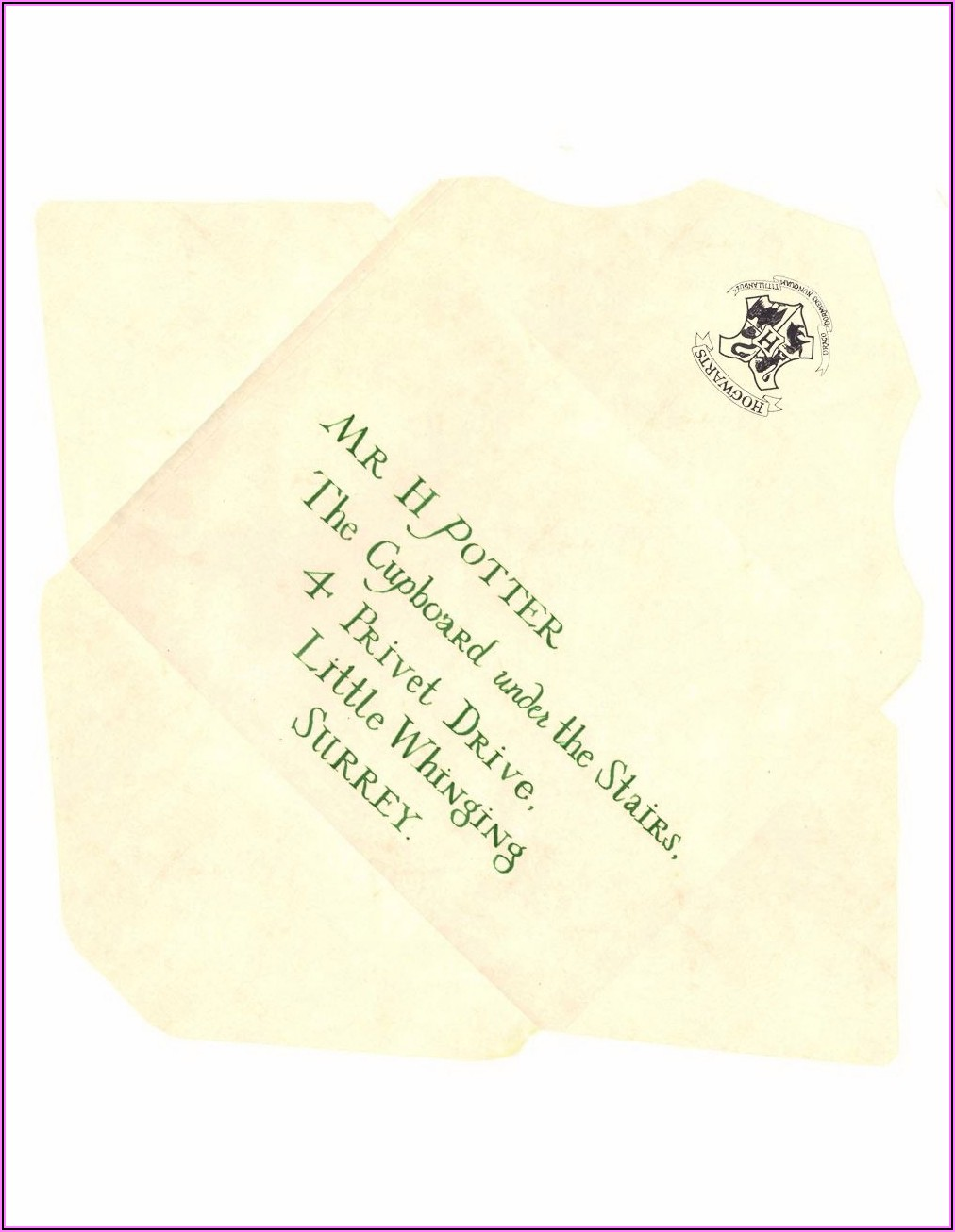 Harry Potter Hogwarts Letter Envelope