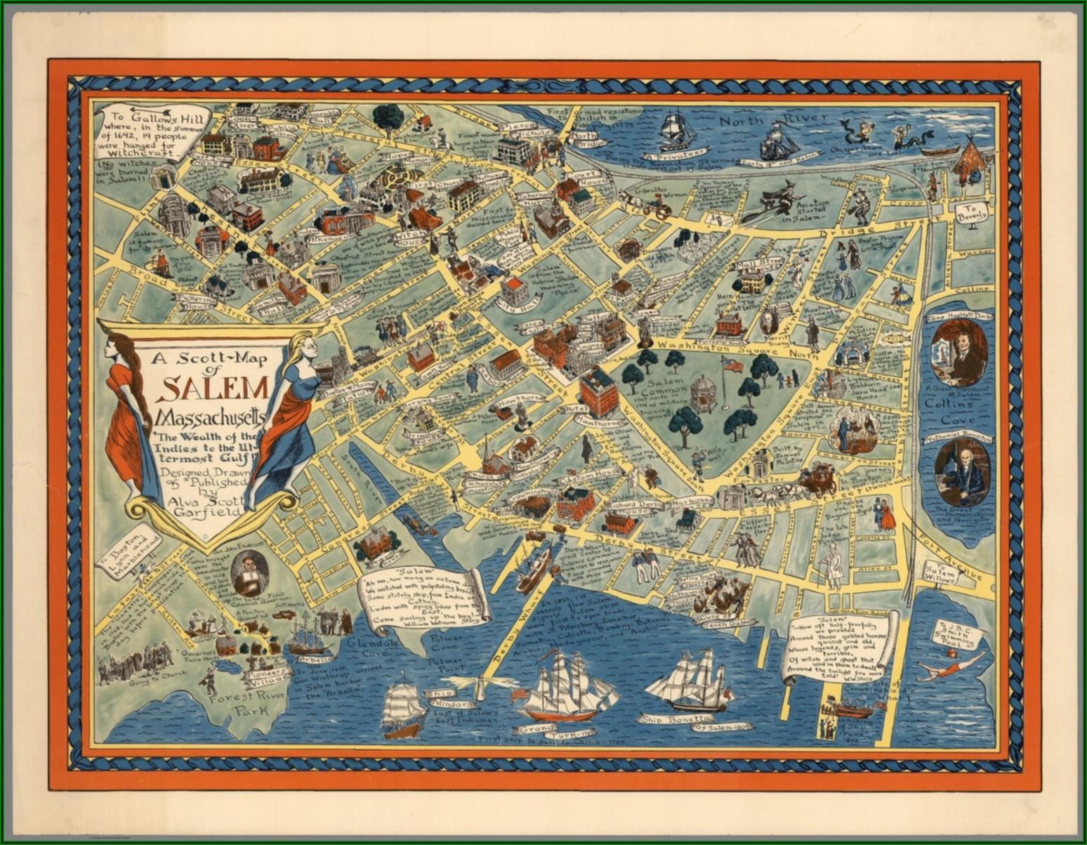 Historic Maps Of Salem Ma