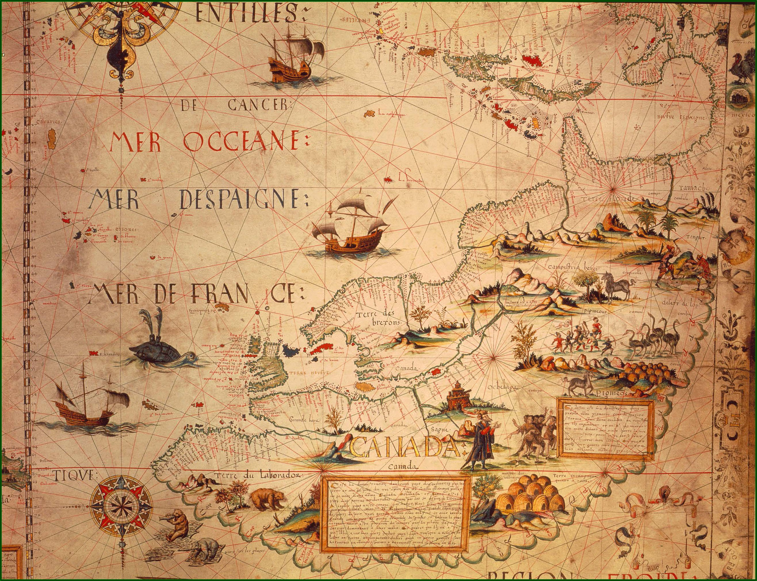 Historical Maps Of Canada For Sale