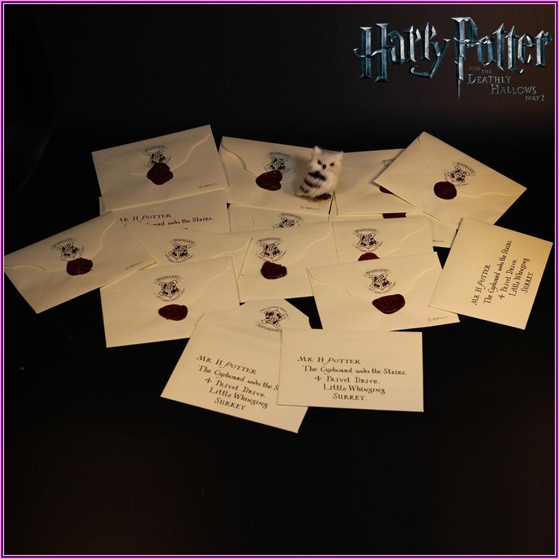 Hogwarts Acceptance Letter Envelope Movie