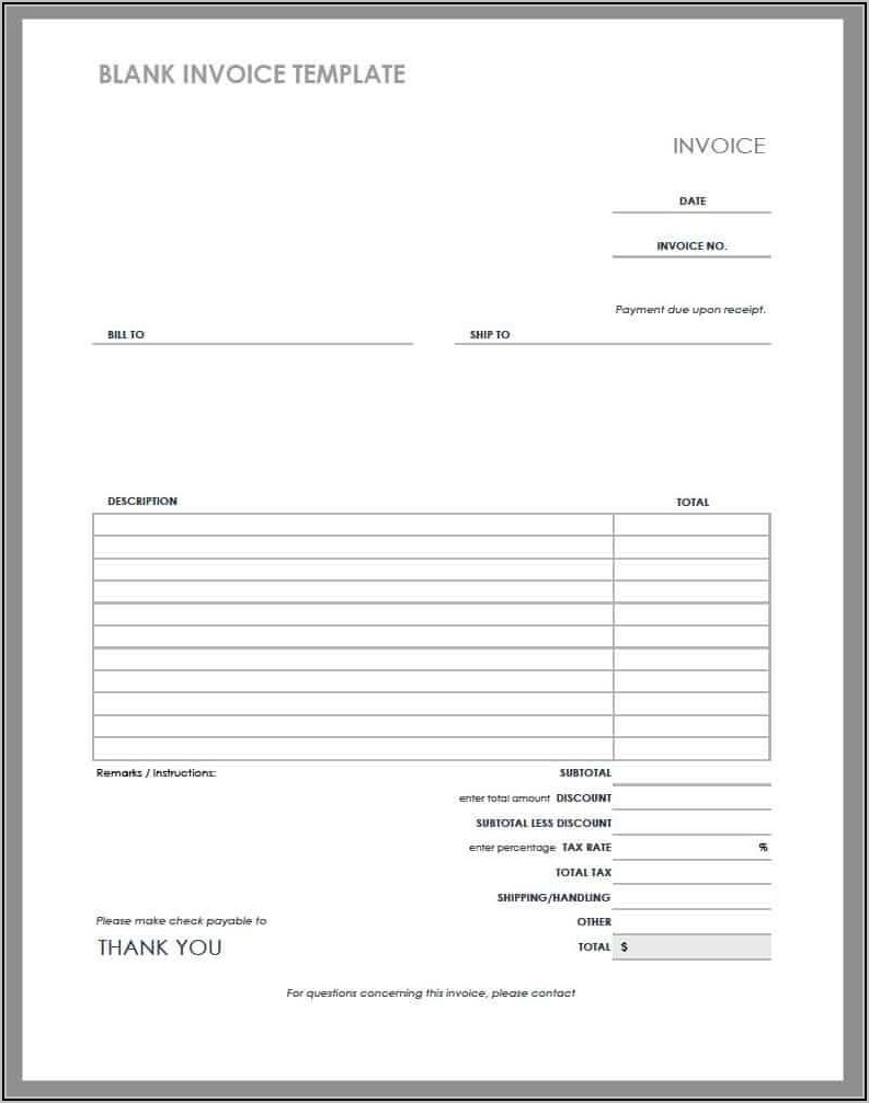 Hospital Invoice Template Excel