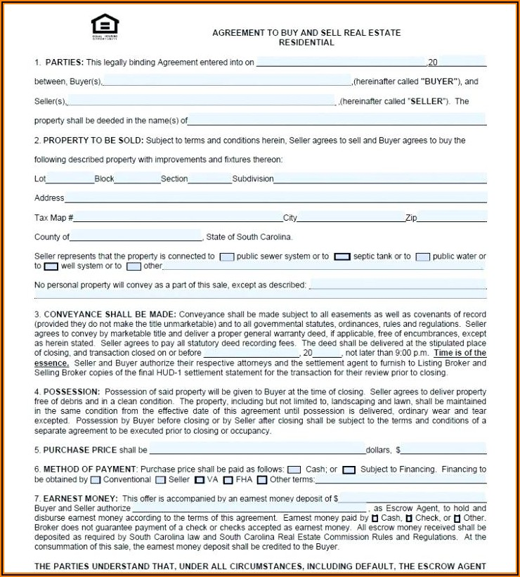House Purchase Agreement Format India