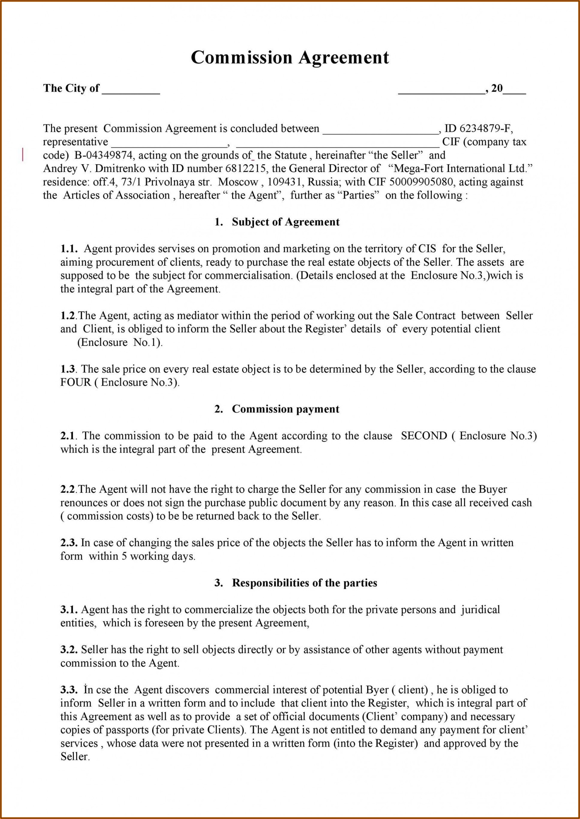 House Purchase Agreement Template Uk