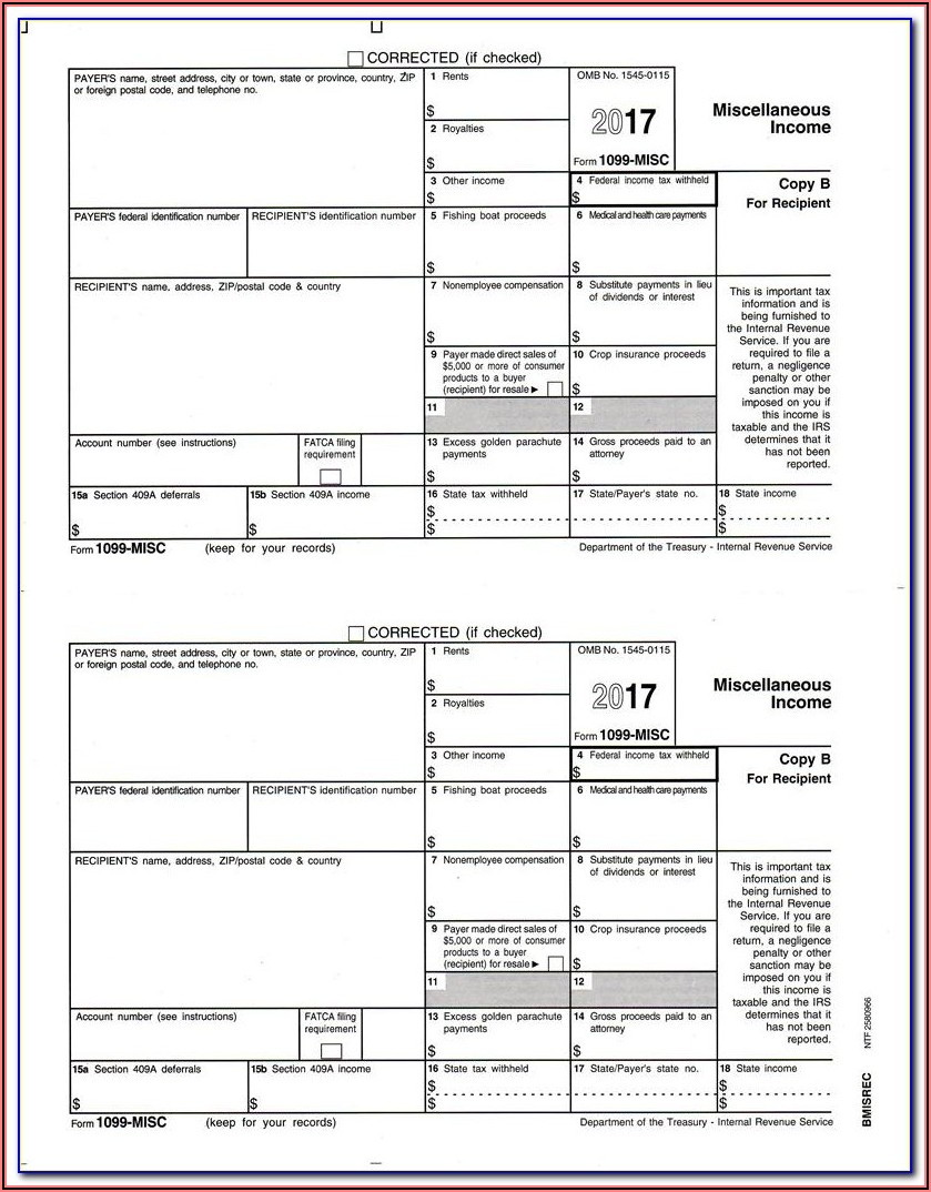 How To File 1099 Misc Forms In California