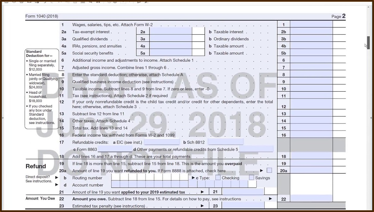 How To Fill Out A 1040ez Tax Form