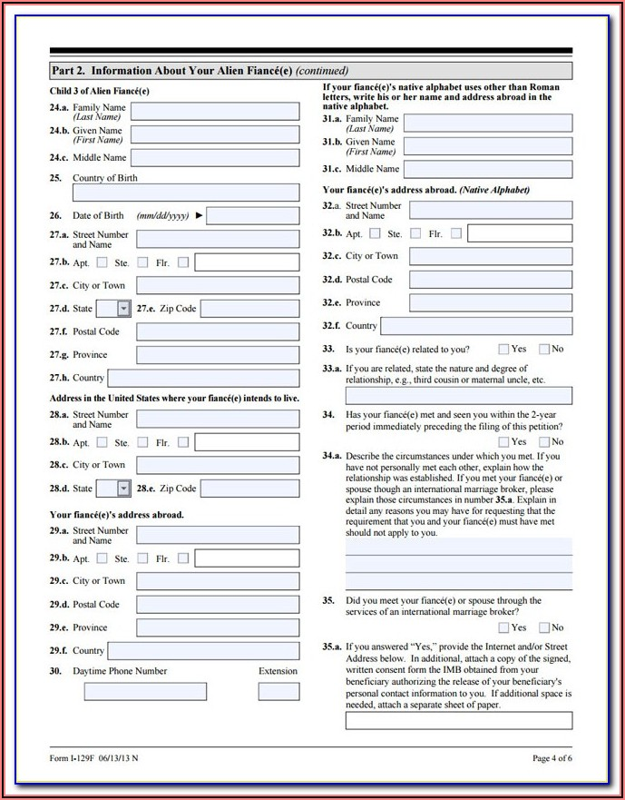 I 134 Form For Fiance Visa