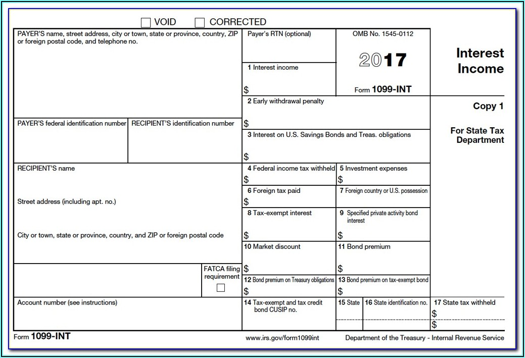 Income Tax Form 1099 G